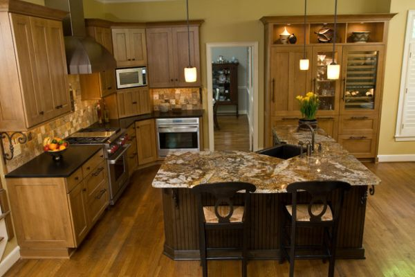 island for small kitchen photo - 2