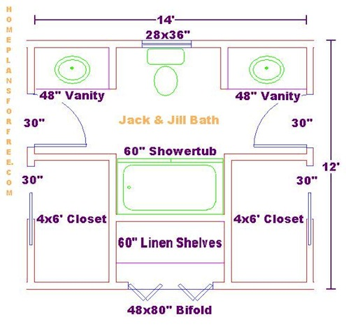 jack and jill bathrooms - Bathroom Designs Jack And Jill