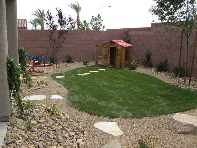 Kid friendly backyard landscaping ideas large and for Kid friendly garden design ideas