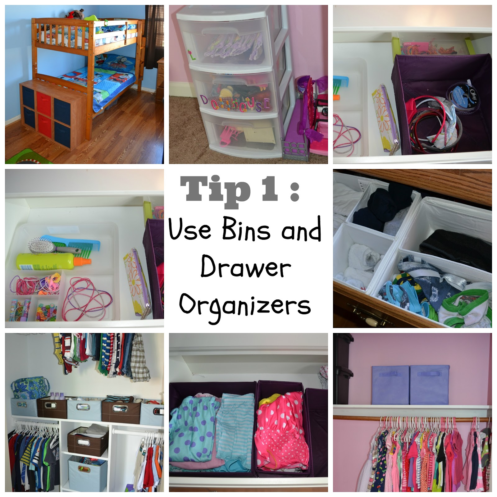 kids bedroom organization photo - 2