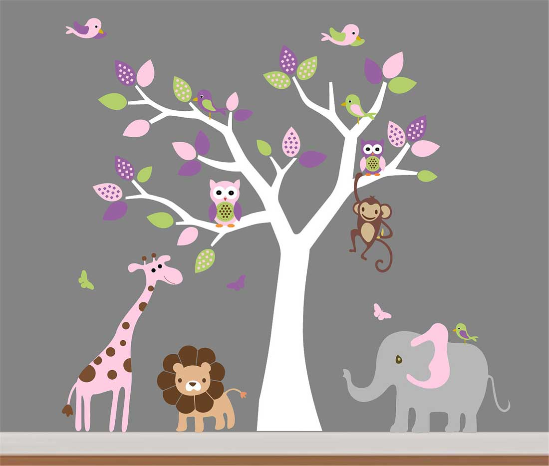 Childrens bedroom stickers for walls home design amipublicfo Gallery