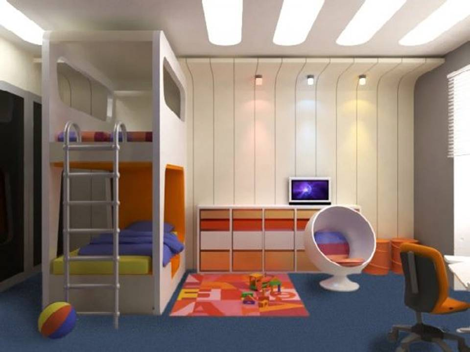 kids modern bedroom photo - 1