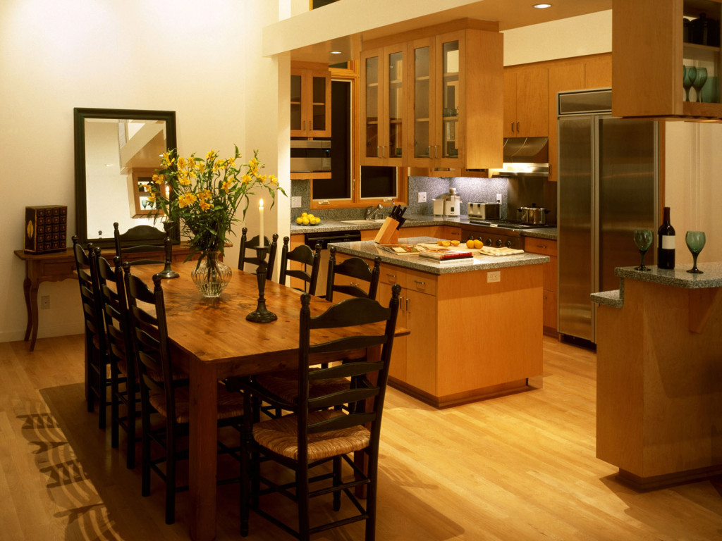 kitchen and dining room photo - 1