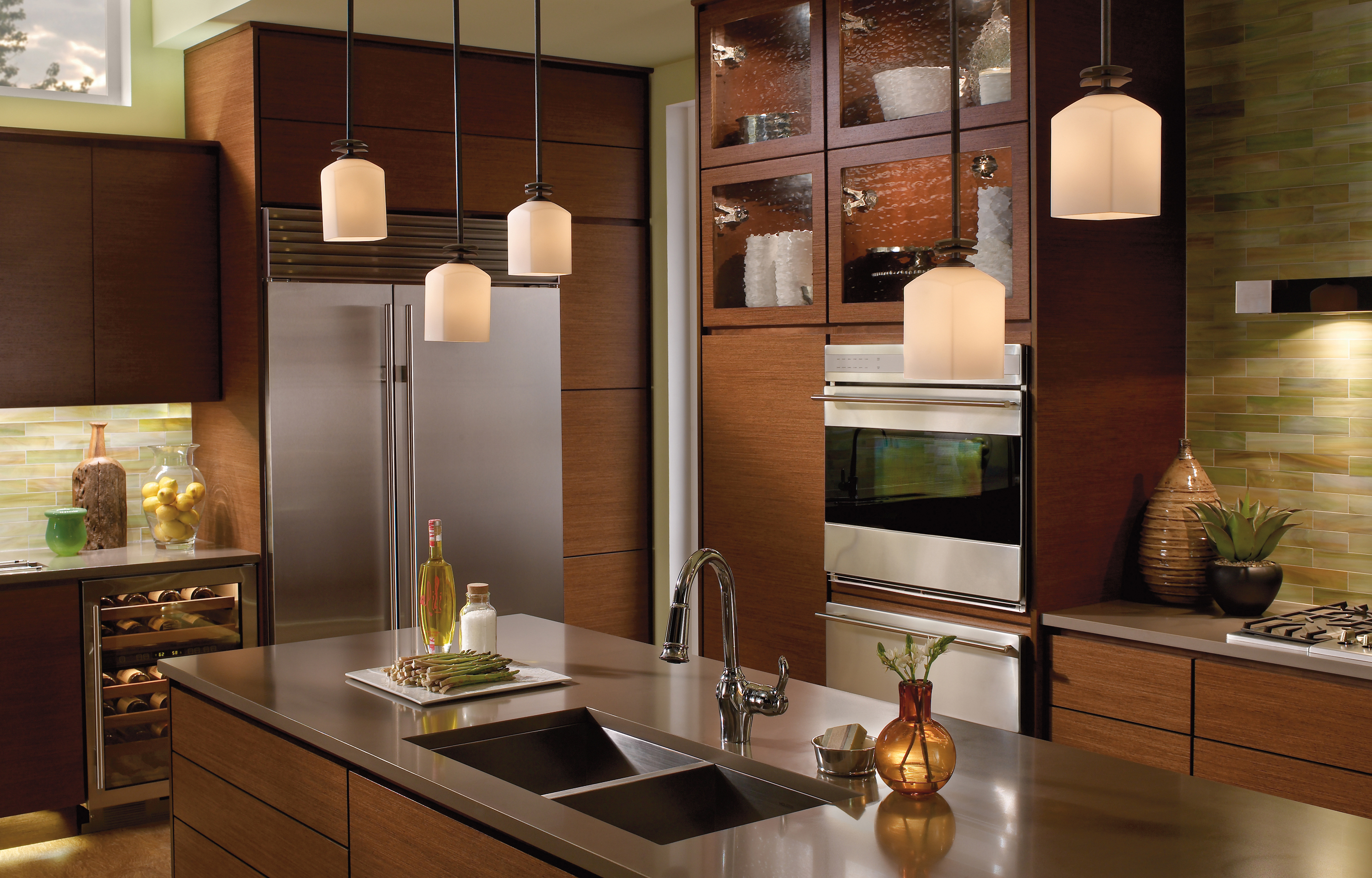 kitchen and dining room lighting photo - 2