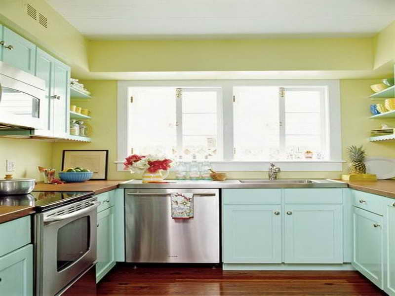 kitchen color ideas for small kitchens - large and beautiful