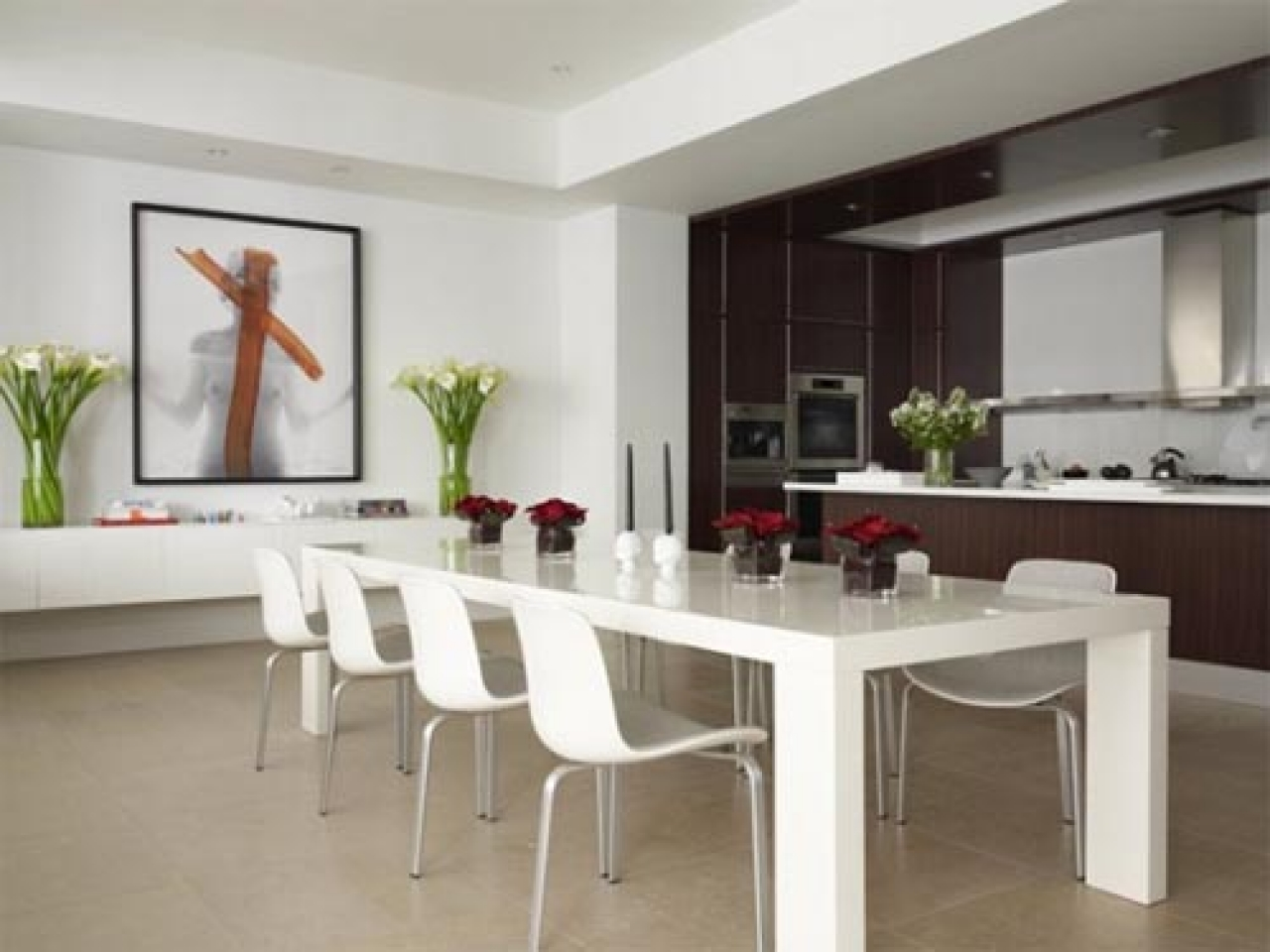 kitchen with dining room designs photo - 1