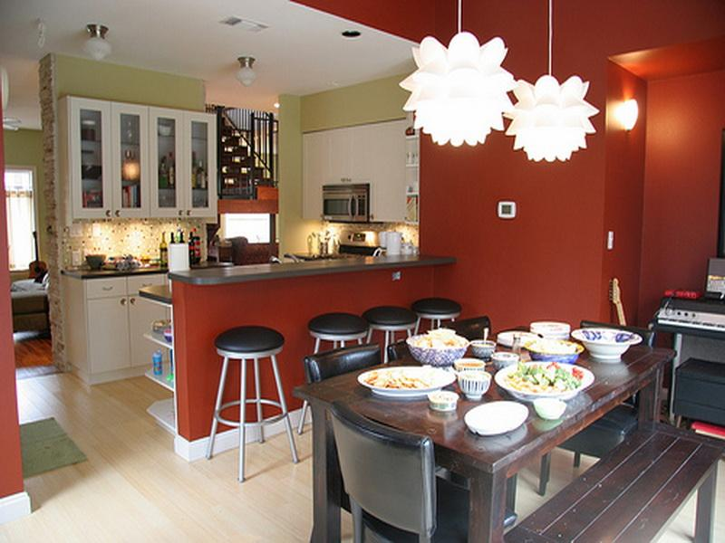 kitchen with dining room designs photo - 2