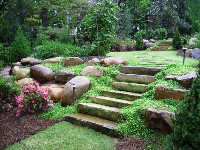 landscaped backyard ideas photo - 1