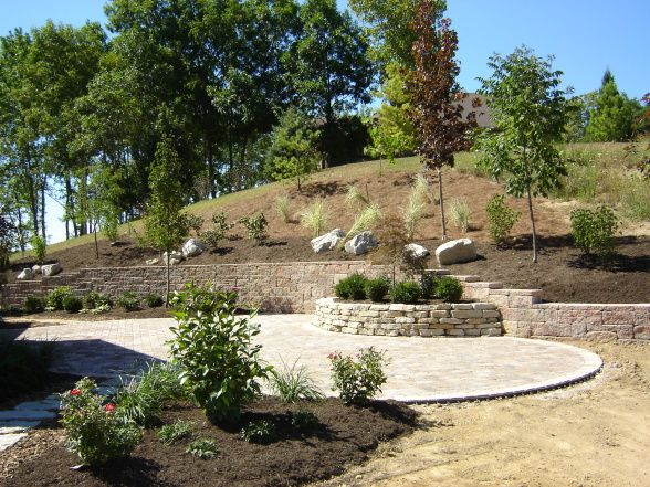 landscaping ideas for a sloped backyard photo - 2