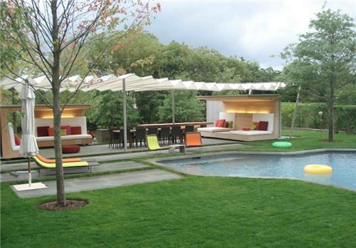 large backyard landscape ideas photo - 2