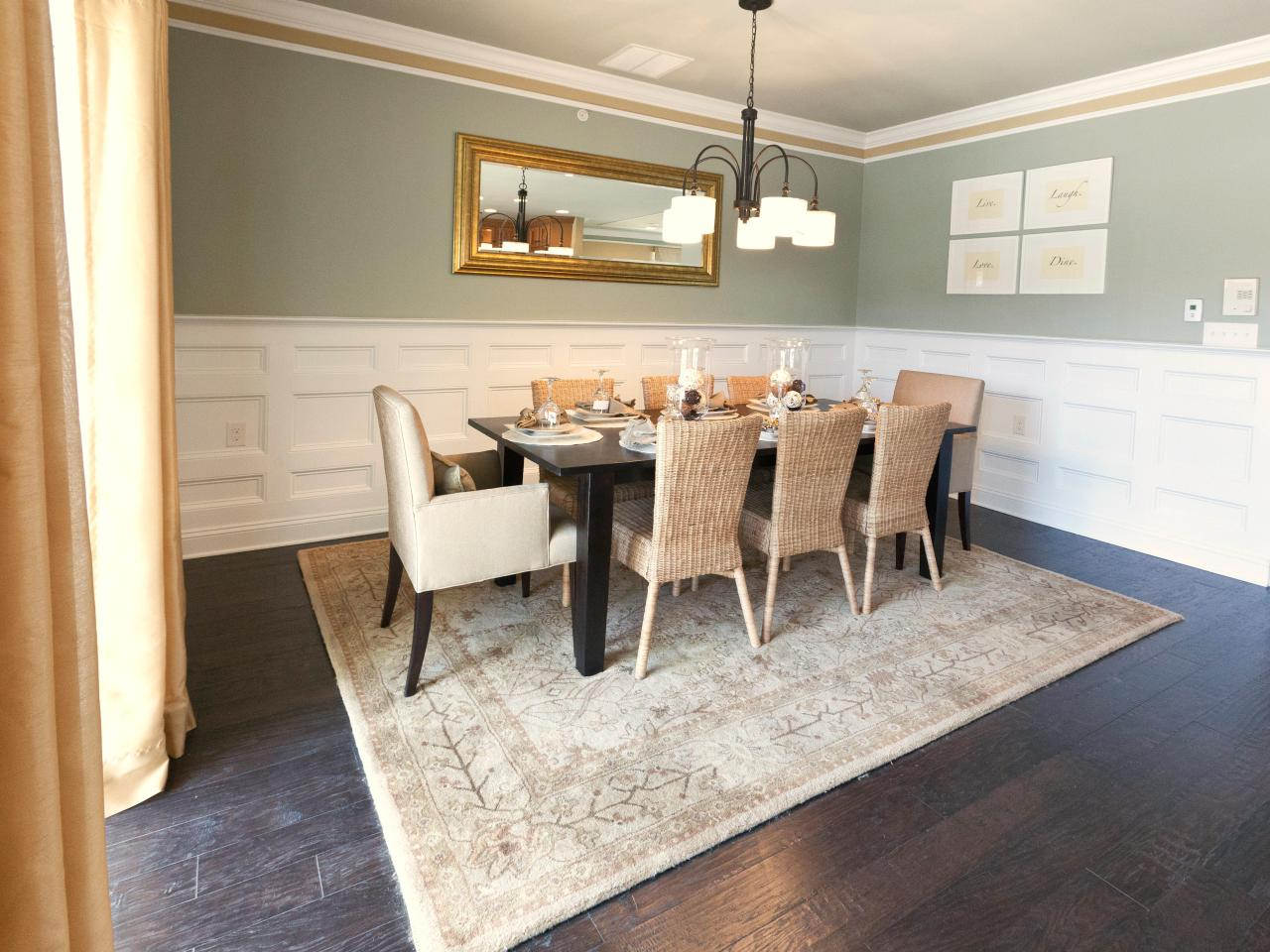 large dining room mirrors photo - 2