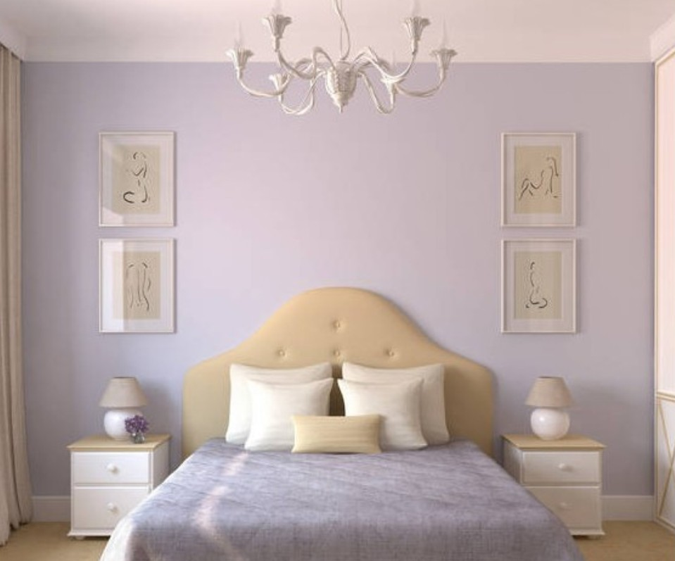 Lavender Bedroom Walls Photo   2