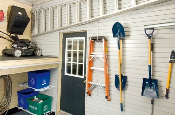 Lawn Mower Garage Storage