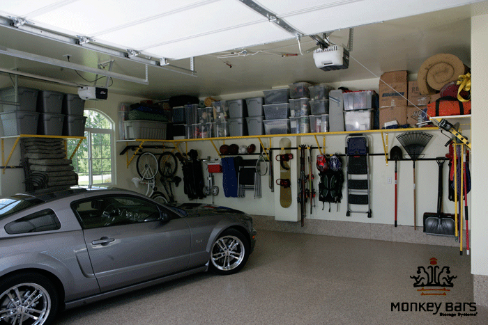 Lawn Mower Garage Storage Photo   2