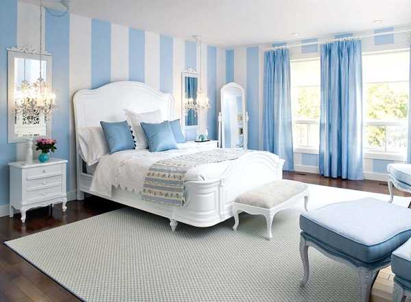 light blue bedroom walls photo - 2
