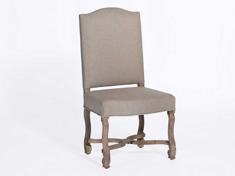 Linen Covered Dining Chairs Photo 2