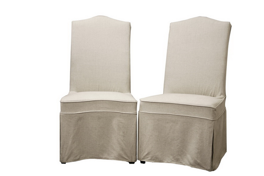 Linen Dining Chair Slipcovers Photo
