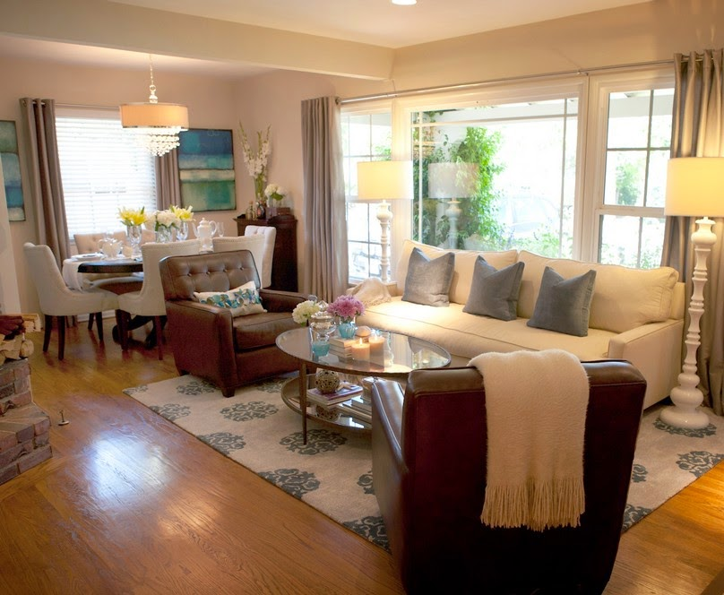 living room dining room combo decorating ideas photo - 1