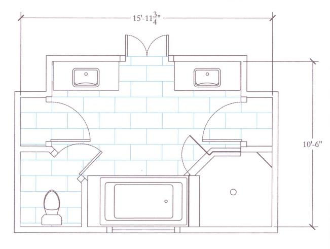 master bathroom layout photo - 1