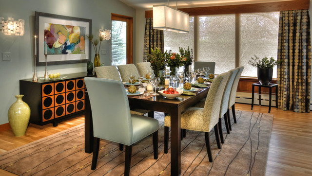 mid century modern dining room furniture photo - 2
