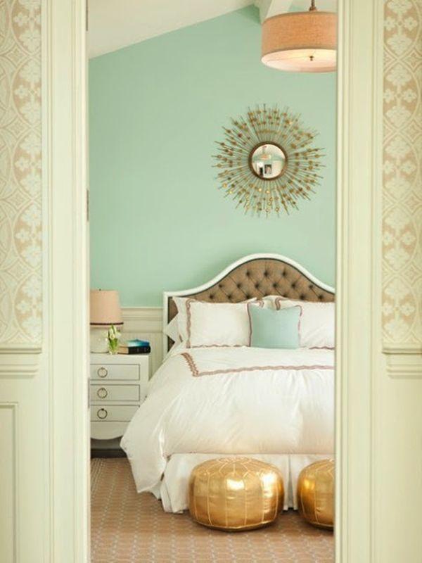 mint green bedroom walls photo - 2
