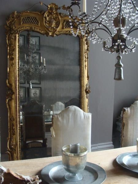 mirrors in dining room photo - 2