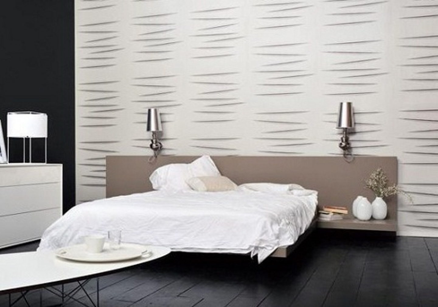 Modern bedroom wallpaper large and beautiful photos for Modern wallpaper for walls designs