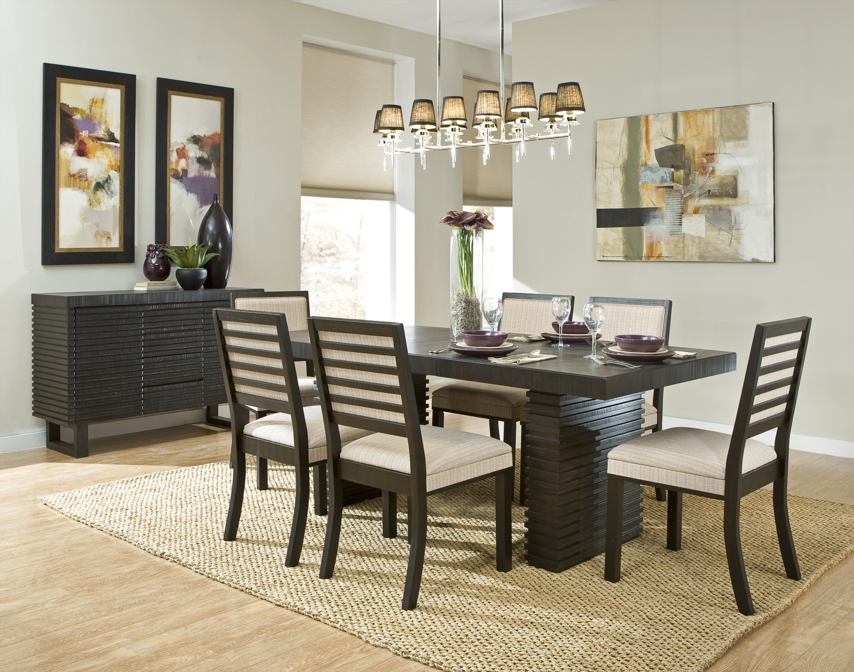 modern chandeliers dining room photo - 1