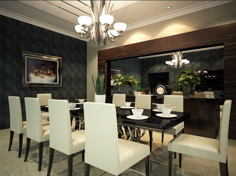 modern chandeliers dining room photo - 2