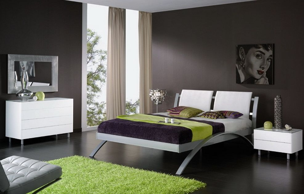 modern color schemes for bedrooms photo - 1