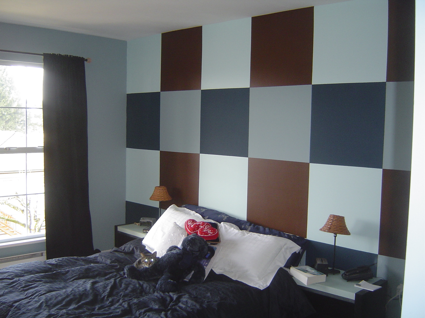 modern color schemes for bedrooms photo - 2