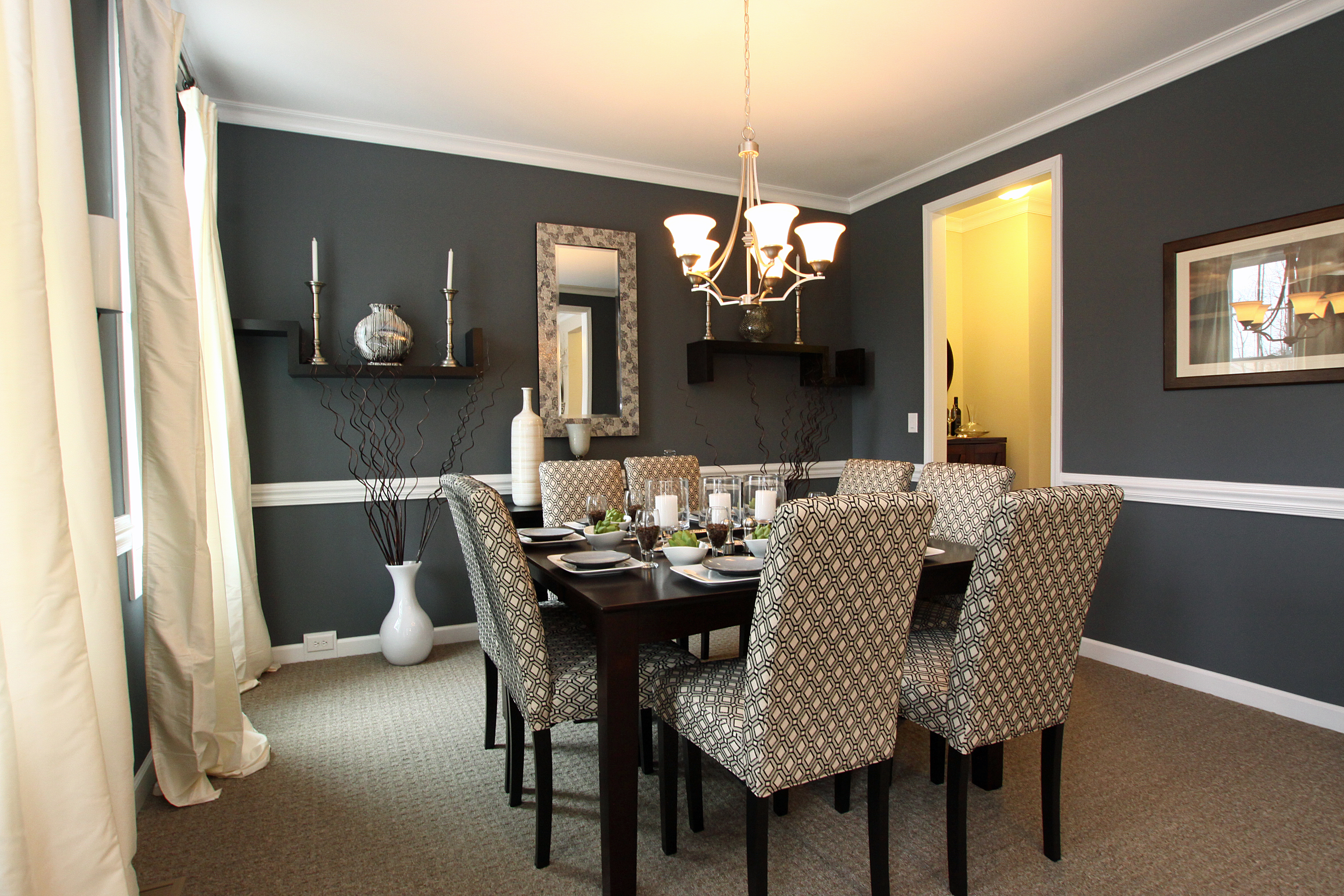 modern dining room colors photo - 1