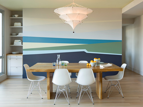 modern dining room colors photo - 2