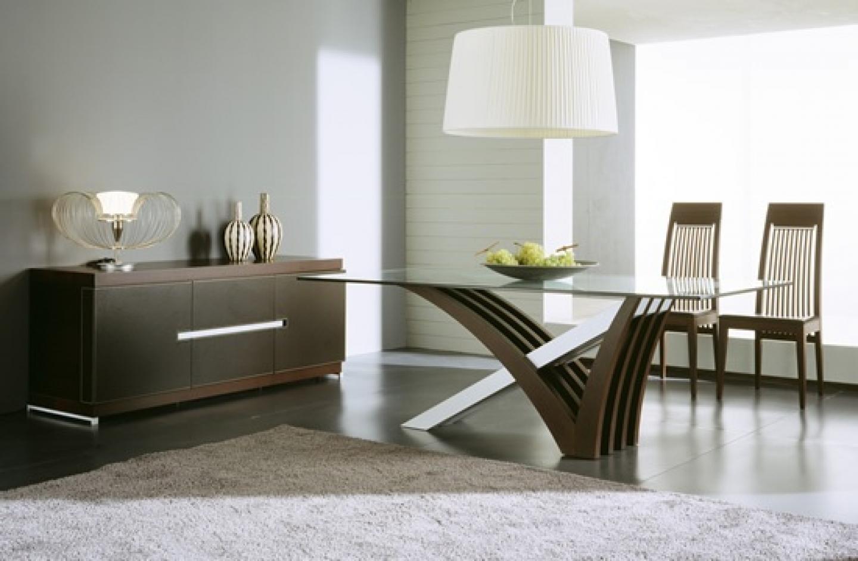 modern dining room design photo - 2