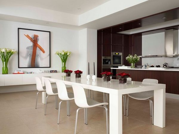 modern dining room designs photo - 2