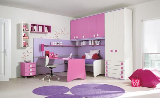 modern girl bedroom photo - 2