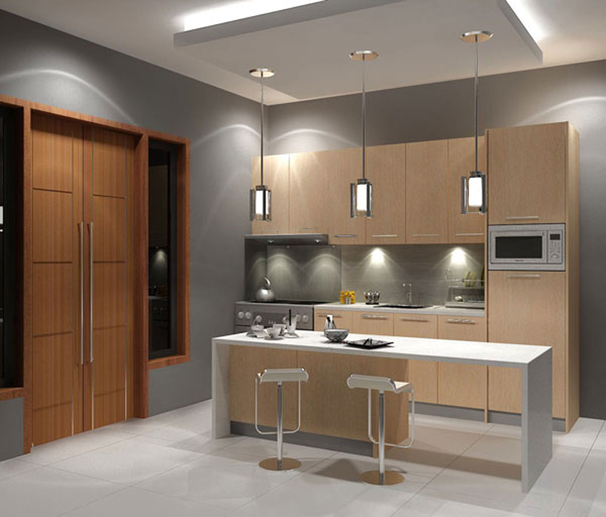 modern small kitchen design photo - 1