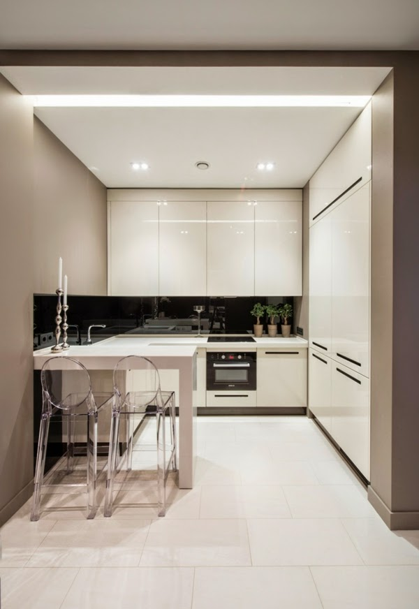 modern small kitchen design photo - 2