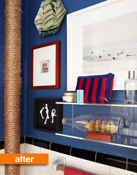 Awesome Nautical Themed Bathroom
