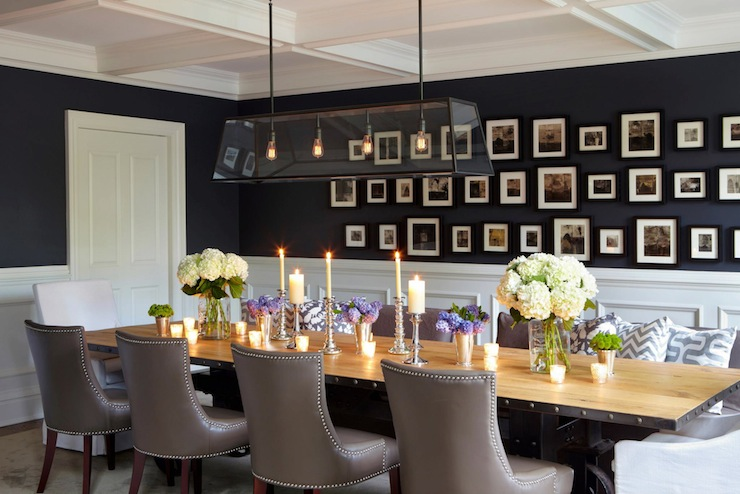 navy blue dining room - large and beautiful photos. photo to