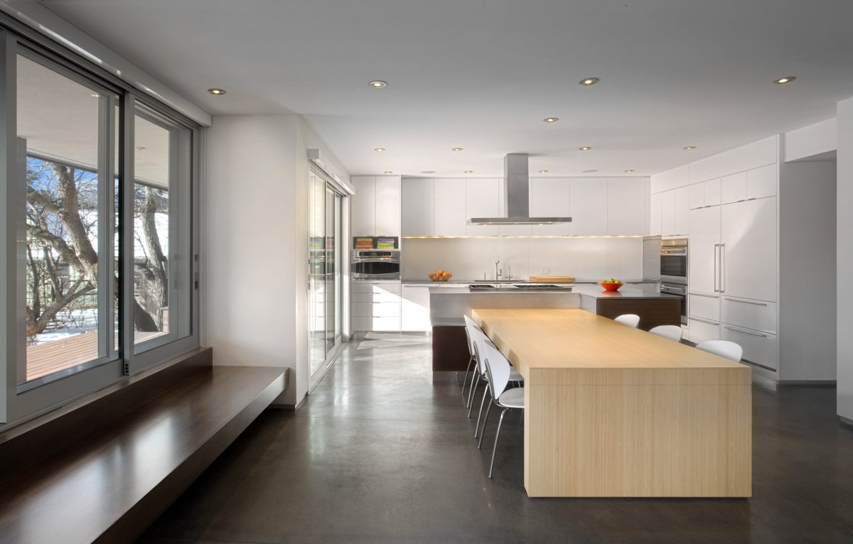 open kitchen and dining room photo - 1