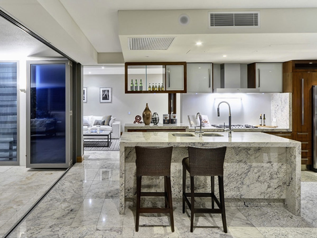 open kitchen and dining room photo - 2