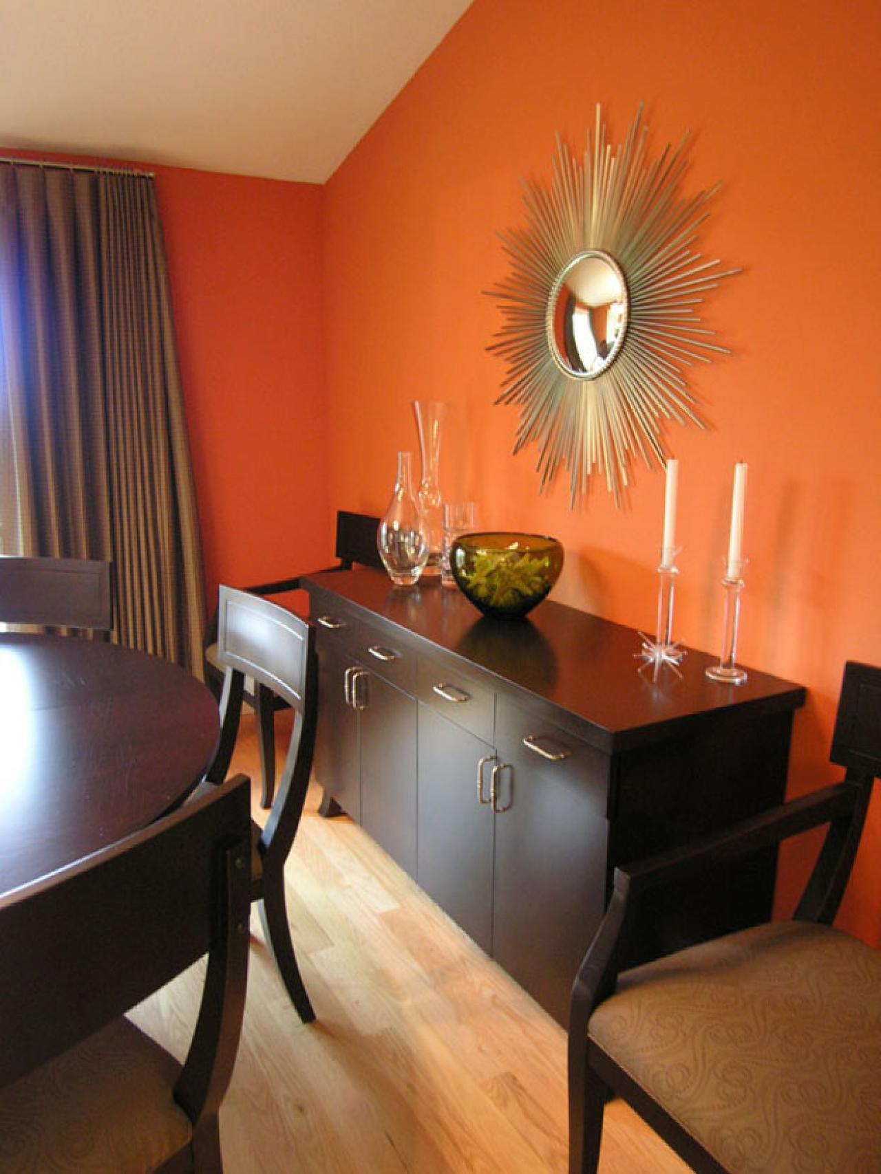 orange dining rooms photo - 1