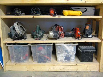 organizing tools in garage photo - 2
