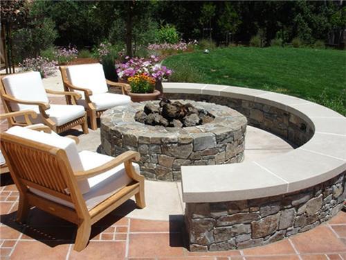 outdoor fire pit ideas backyard photo - 1