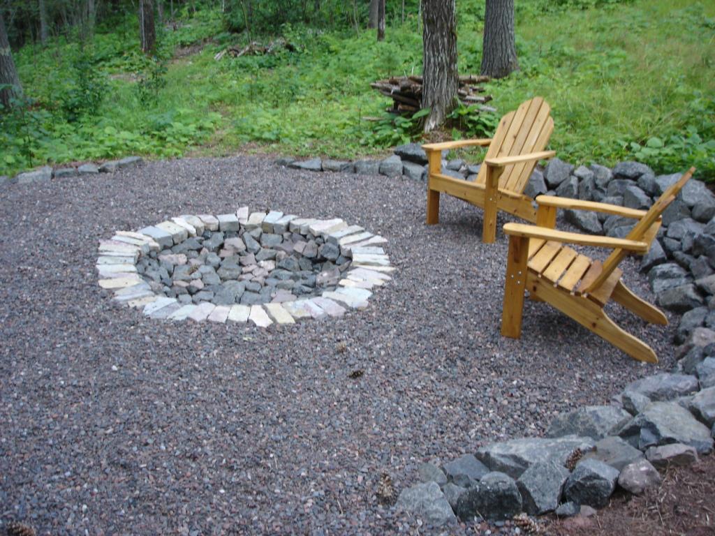 outdoor fire pit ideas backyard photo - 2