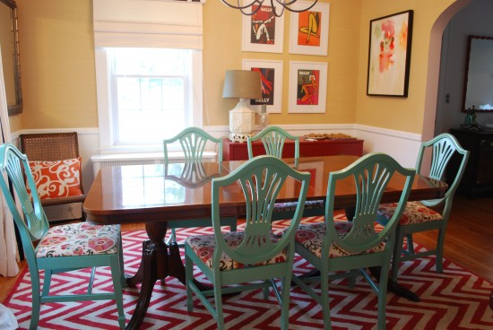 Painted Dining Room Chairs Photo   2