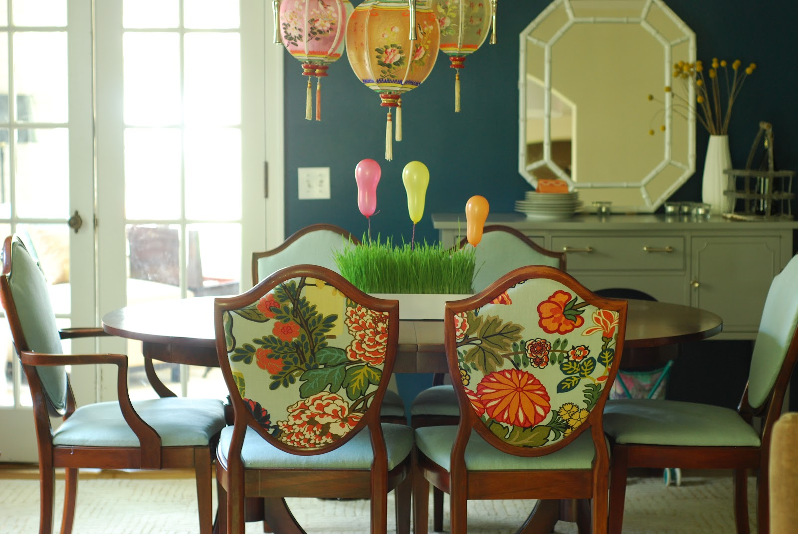 painted dining room set photo - 2