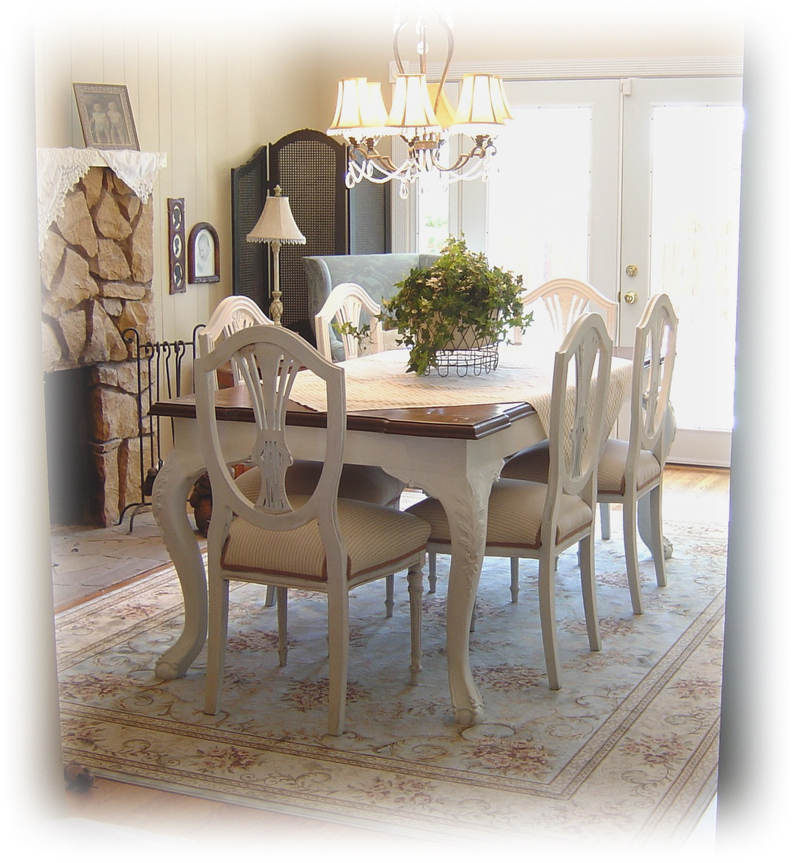 painted dining room sets photo - 2
