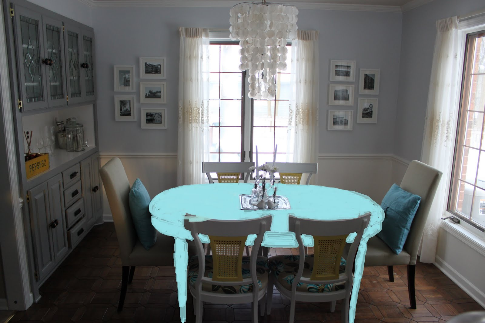 Painting a dining room table large and beautiful photos photo to painting a dining room table sxxofo
